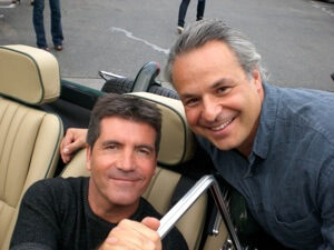Clint Arthur with Simon Cowell