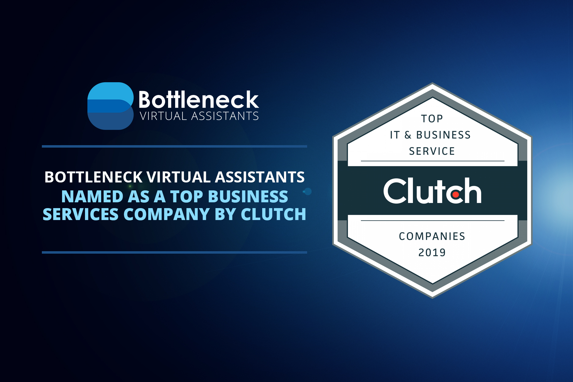 Bottleneck Virtual Assistants Named as a Top Business Services Company by Clutch