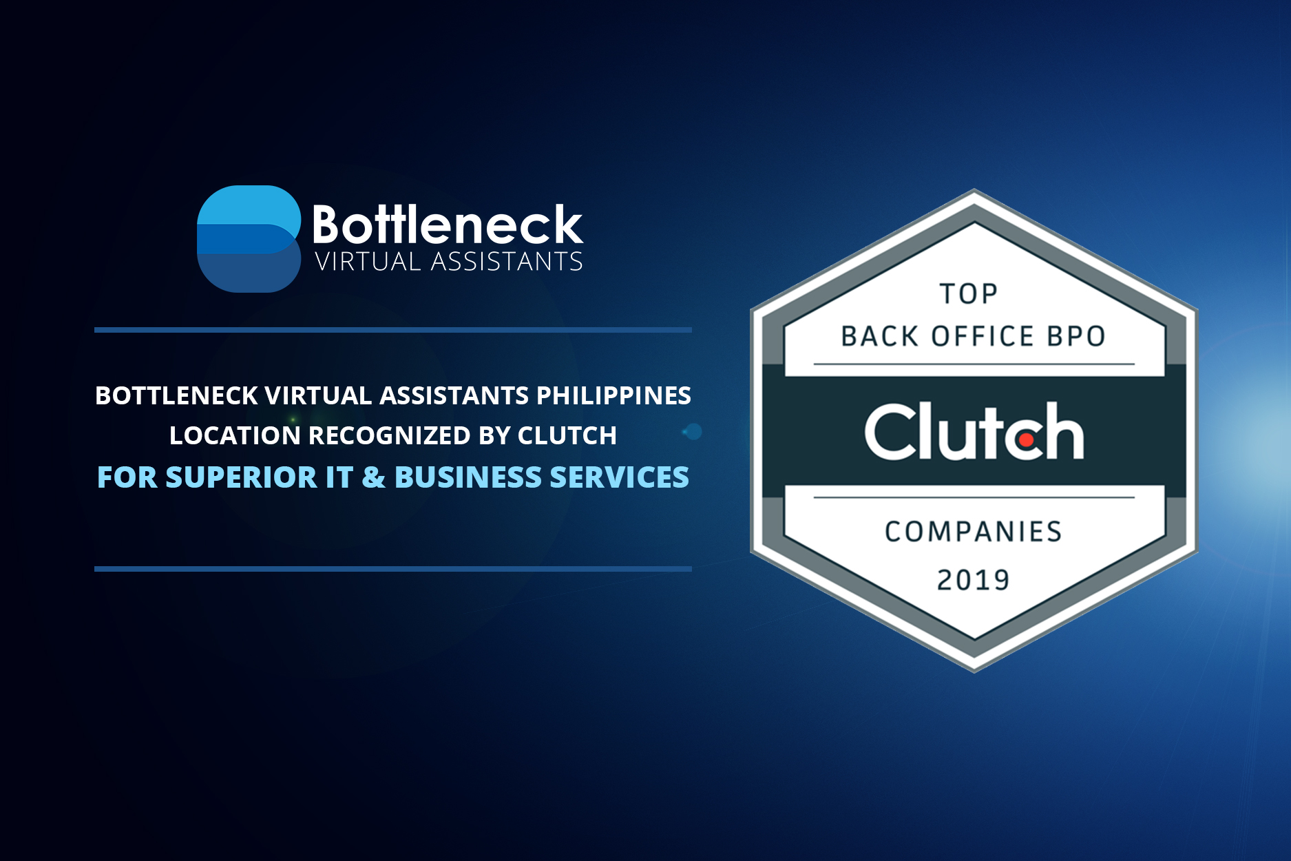 Bottleneck Virtual Assistants Philippines Recognized by Clutch