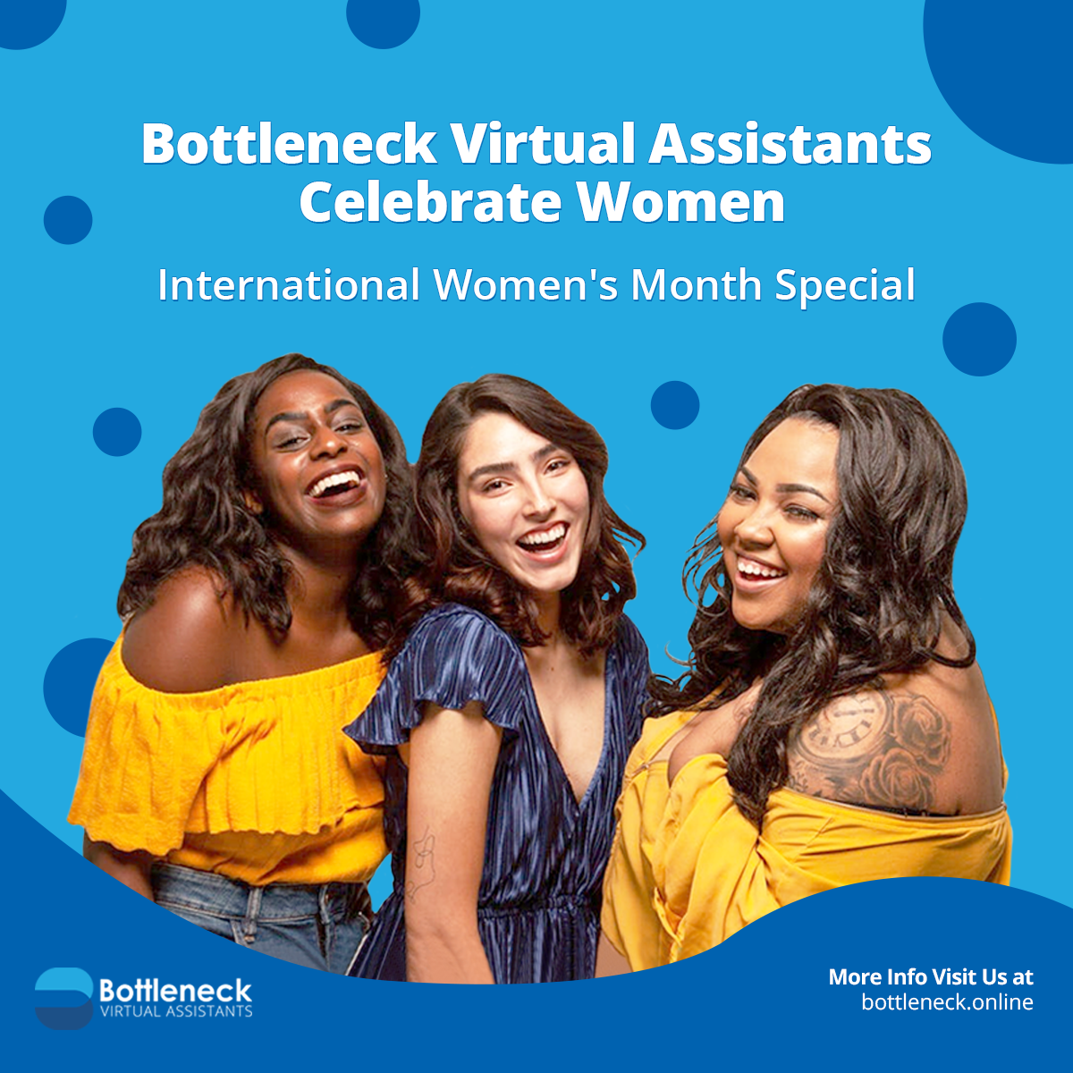 Bottleneck Virtual Assistants Celebrate Women