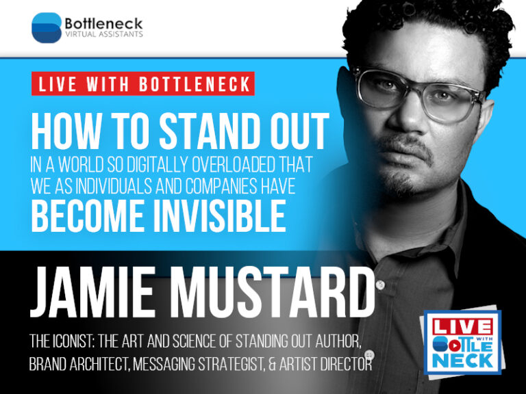 How To STAND OUT In A World So Digitally Overloaded | Jamie Mustard, Author of The Iconist