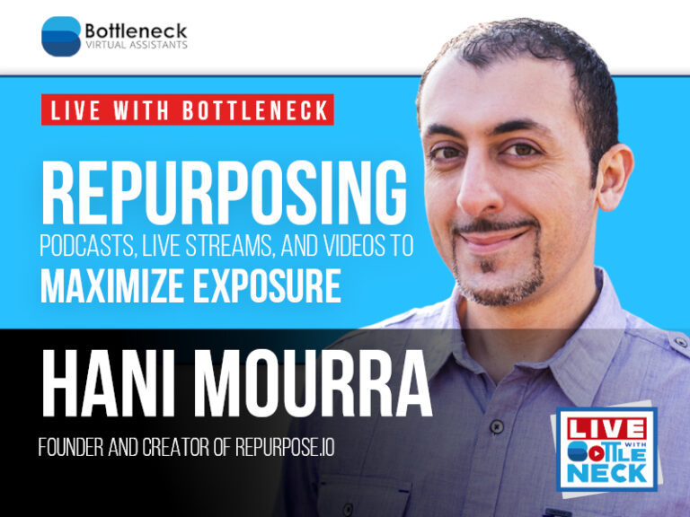 Repurposing Podcasts, Live Streams, and Videos To Maximize Exposure| Hani Mourra