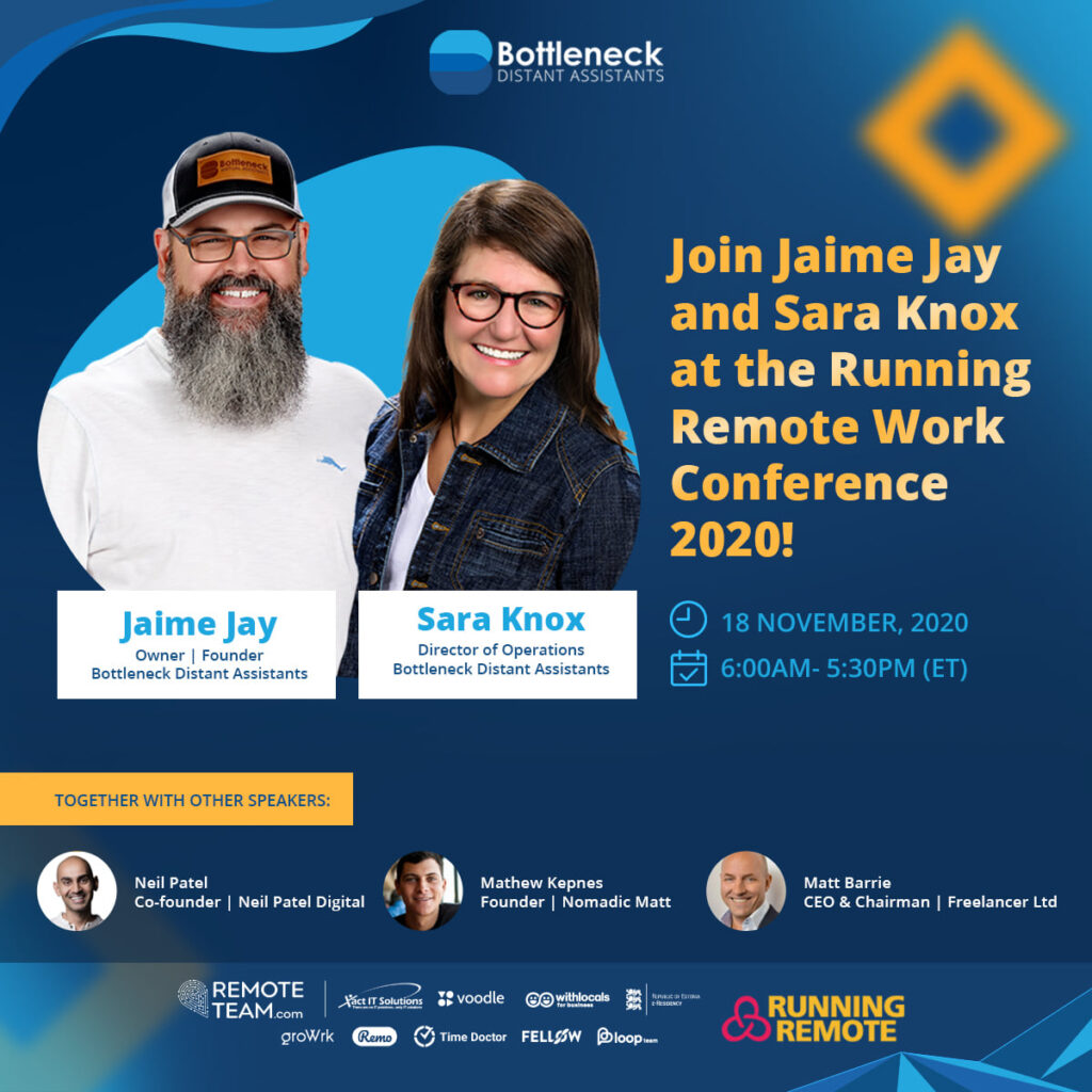 Join Jaime and Sara for the Running Remote Conference Keynote Presentation